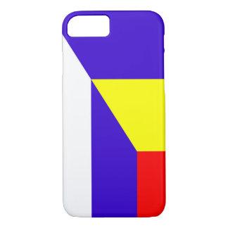 des Flaggen-Landes Serbiens Rumänien halbes Symbol iPhone 8/7 Hülle
