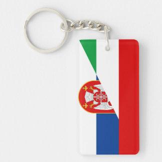 des Flaggen-Landes Ungarns Serbien halbes Symbol Schlüsselanhänger