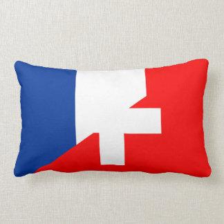 des Flaggenlandes der Schweiz Frankreich halber Lendenkissen