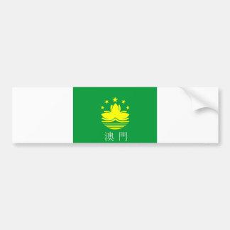 des Flaggenlandes Macaos Macao chinesischer Autoaufkleber