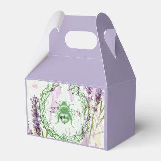 des französischen Vintage Biene Land-Lavendels des Geschenkschachtel