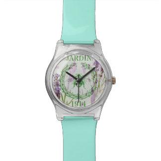 des französischen Vintage Biene Land-Lavendels des Uhr