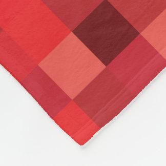 Des Gamer-| rotes Pixelated Muster Rot-der Pixel-| Fleecedecke
