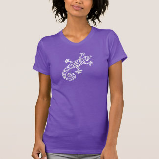 Des Gecko grafischer des Weiß Damen-T - Shirt