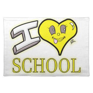 des Gelb-Schulbusses der Liebe I Schulausgabe Stofftischset