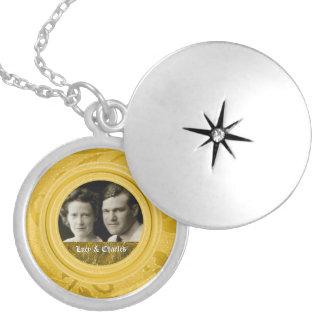 Des Gold50. Foto-Andenken Hochzeits-Jahrestags-| Runde Medaillon Halskette