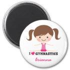 Des Gymnastik-Cartoon-Mädchens der Liebe I Runder Magnet 5,1 Cm