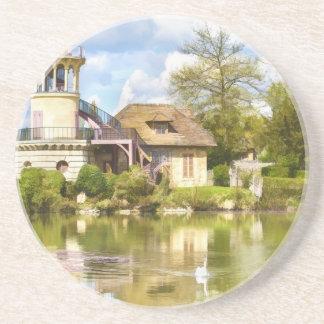 Des Hamlets der Königin, Versailles, Frankreich, Getränkeuntersetzer