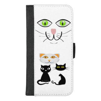 Des Kätzchen-Geldbörsen-Kasten das iPhone iPhone 8/7 Plus Geldbeutel-Hülle
