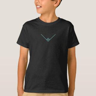 Des Kindes 90 Grad des T - Shirt-(cyan-blaues T-Shirt