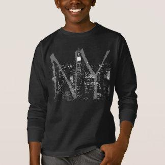 Des Kindes Stadt das New- YorkShirt-NY beleuchtet T-Shirt