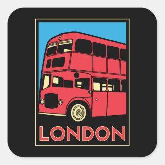 des Kunst-Dekos Londons Westminster England retro Quadrat-Aufkleber