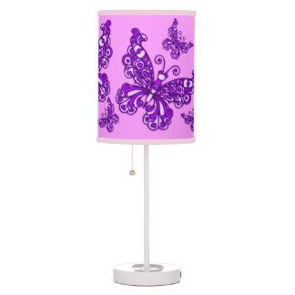 Des lila gemusterte grafische Lampe Mädchen-Raumes