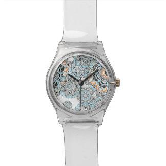 Des Mandala-Musters | Orientes blaues indisches Armbanduhr