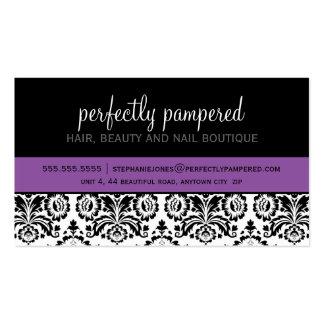 Des modernen violettes Lila Damastschwarzen DER Visitenkarten