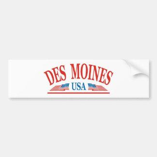 Des Moines Iowa Autoaufkleber