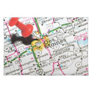 Des Moines, Iowa Stofftischset