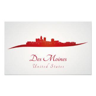 Des Moines skyline im Netz Photodrucke