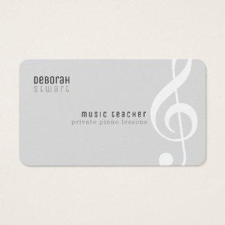 des Musiklehrers der privaten Lektionen blasses Visitenkarte