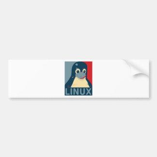 Des Pinguinplakat-Kopfes Linuxs Tux rotes Blau Autoaufkleber