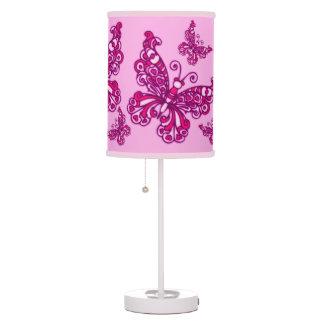 Des rosa gemusterte grafische Lampe Mädchen-Raumes