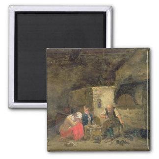 Des Schusters (Öls auf Platte) (Paare von 134462) Quadratischer Magnet
