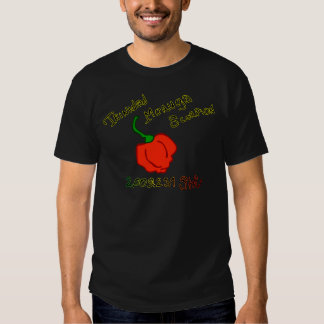 Des Skorpions-Chilis w Trinidads Moruga Text Shirt