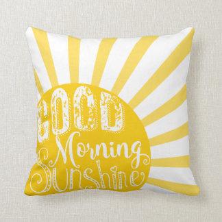 Des Sonnenscheinkissens des guten Morgens des Kissen