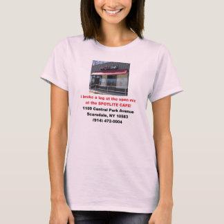 Des Spotlite der Damen Café offener Mic T-Shirt