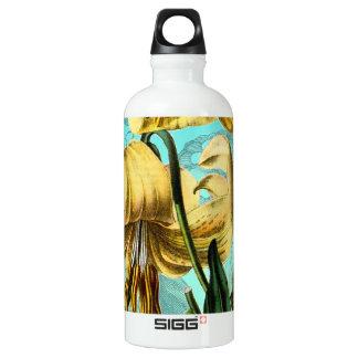 Des Tigers Blau lilly Aluminiumwasserflasche