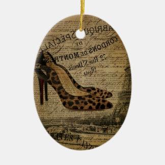 des Turmleoparden Paris Eiffel hoher Fashionista Keramik Ornament