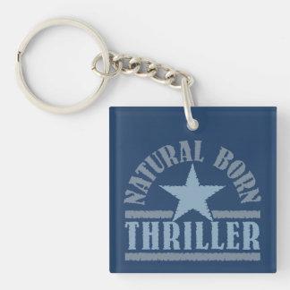 Des von Geburt kundenspezifische Schlüsselkette Th Einseitiger Quadratischer Acryl Schlüsselanhänger