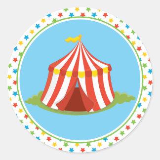 Des Zirkuszelt-  Zirkus-Thema Zirkus-des Zelt-  Runder Aufkleber