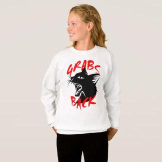 Des Zupacken-das Sweatshirt zurück Mädchens