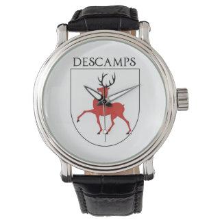 Descamps Familien-Wappen Armbanduhr