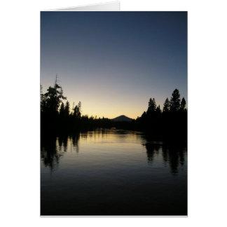 Deschutes am Sonnenuntergang Karte