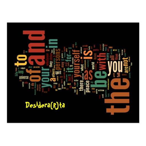 Desidera (R) ta Wort-Kunstpostkarten Postkarten