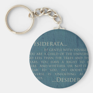 Desiderata auf Leinwand Schlüsselanhänger