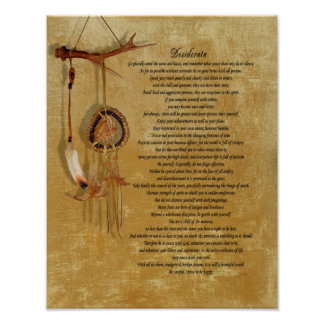 Desiderata dreamcatch Plakat