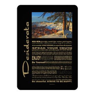 Desiderata-fantastische Ansicht an Bryce Schlucht 12,7 X 17,8 Cm Einladungskarte
