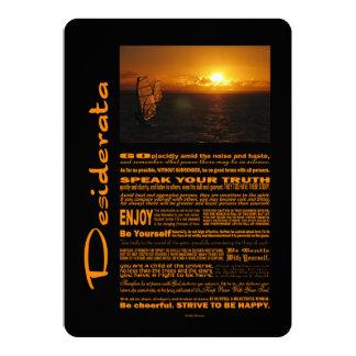 Desiderata-Gedicht-Abend Windsurfing 12,7 X 17,8 Cm Einladungskarte