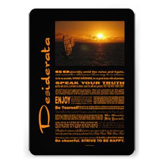 Desiderata-Gedicht-Abend Windsurfing Individuelle Einladung