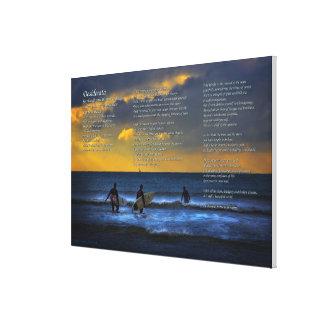 Desiderata-Gedicht auf dem Surfen am Leinwanddruck