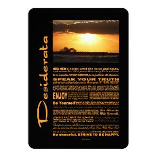 Desiderata-Gedicht bewegt am Sonnenuntergang 12,7 X 17,8 Cm Einladungskarte