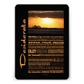 Desiderata-Gedicht bewegt am Sonnenuntergang Personalisierte Einladungskarte