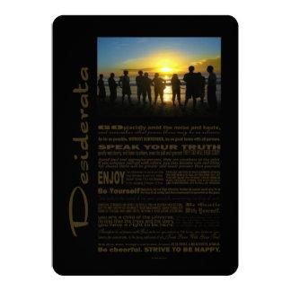 Desiderata-Gedicht, das den Sonnenuntergang 12,7 X 17,8 Cm Einladungskarte