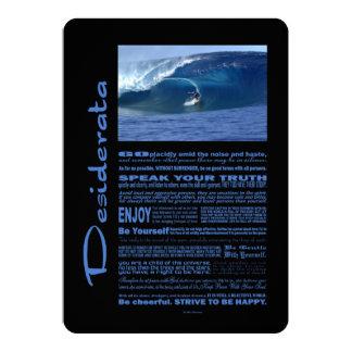 Desiderata-Gedicht, das in Hawaii surft 12,7 X 17,8 Cm Einladungskarte