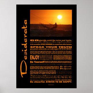 Desiderata-Gedicht-Drachen-Surfer am Poster