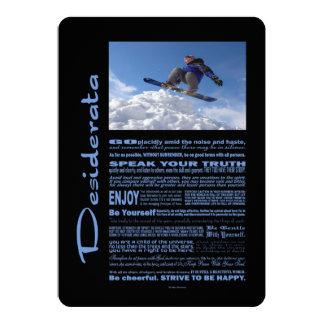 Desiderata-Gedicht-Extrem-Skifahrer 12,7 X 17,8 Cm Einladungskarte