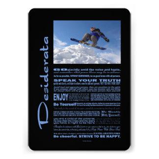 Desiderata-Gedicht-Extrem-Skifahrer Personalisierte Einladung